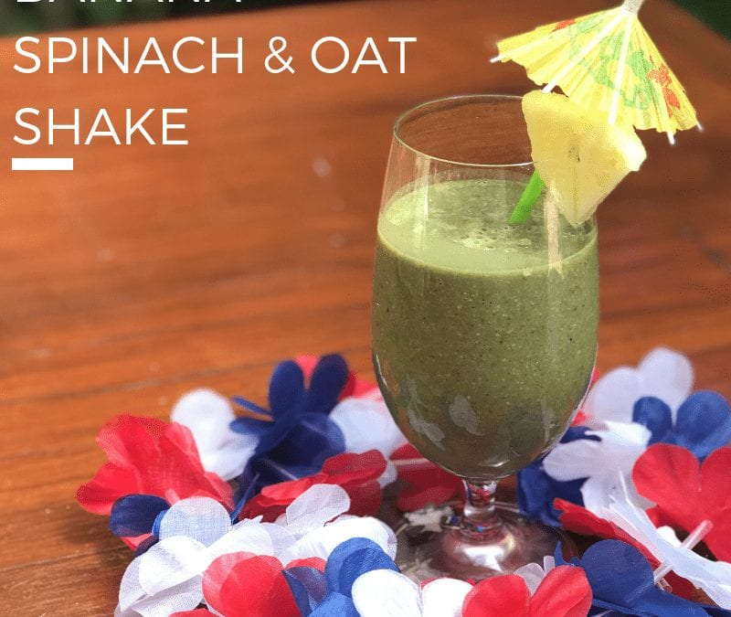 Banana Spinach & Oat Shake Recipe from Kylie's Kitchen