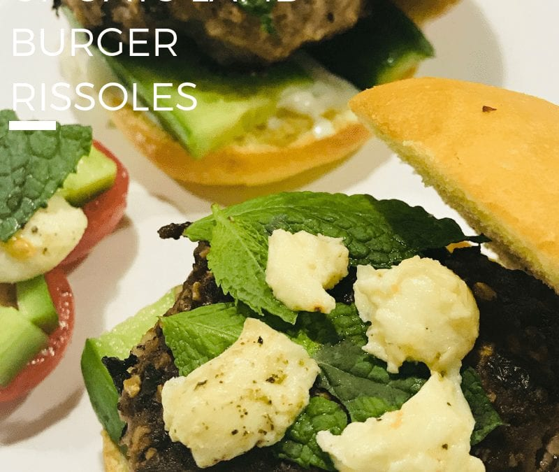 GF Oats Lamb Rissole Burgers from Kylie's Kitchen