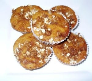 Oat Crumble Cupcakes