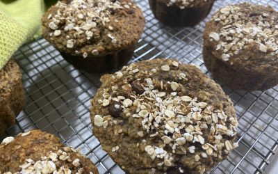 Oat, Banana and Chocolate Chip Muffins