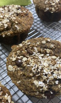 Chocolate Chip Muffins with Oat and Banana